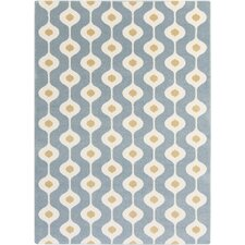 Horizon Blue Geometric Area Rug