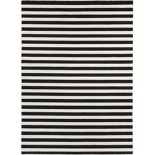 Horizon Charcoal/White Striped Area Rug