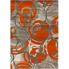 Jax Burnt Orange/Gray Area Rug