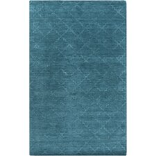 Etching Teal Area Rug