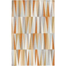 Frontier Burnt Orange Geometric Area Rug