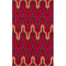 Brentwood Cherry/Hot Pink Geometric Area Rug