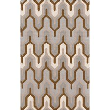 Brentwood Gray Geometric Area Rug