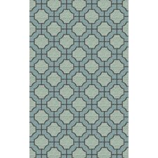 Dream Blue/Moss Geometric Area Rug