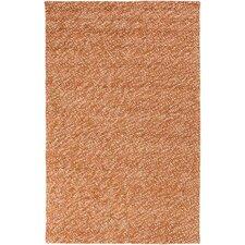 Confetti Burnt Orange/Beige Solid Rug