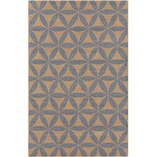 Brentwood Blue/Tan Geometric Area Rug