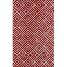 Brentwood Burgundy/Gold Geometric Area Rug