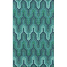 Brentwood Green/Teal Geometric Area Rug