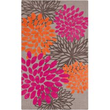 Abigail Pink/Brown Area Rug