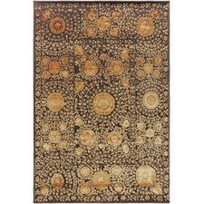 Arabesque Rust/Black Area Rug