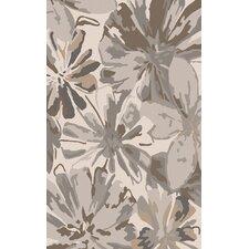 Athena Beige/Gray Floral Area Rug