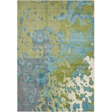 Aberdine Green & Teal Area Rug