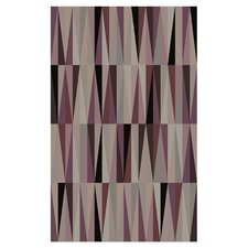 Oasis Purple Geometric Area Rug