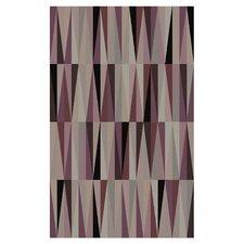 Oasis Purple Geometric Area Rug