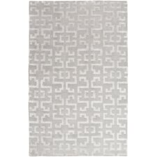 Mugal Light Gray Geometric Area Rug
