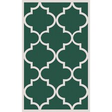 Mamba Green Geometric Area Rug