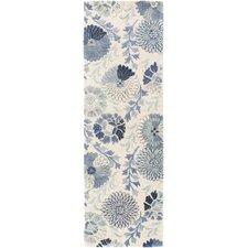 Vintage Cobalt Floral Area Rug
