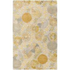 Vintage Gold Floral Area Rug