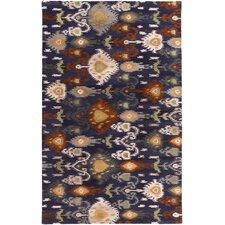 Surroundings Charcoal/Light Gray Ikat and Suzani Area Rug