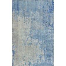Watercolor Cobalt/Gray Area Rug