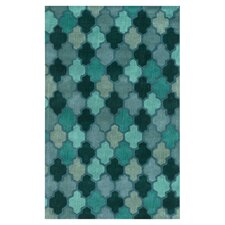 Oasis Fores Green Geometric Area Rug