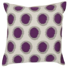 Pretty Polka Dot Linen Throw Pillow