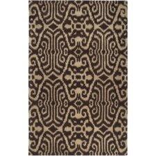 Mosaic Chocolate Medallion/Damask Area Rug