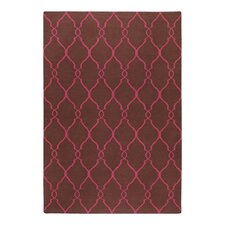 Fallon Chocolate/Fuchsia Area Rug
