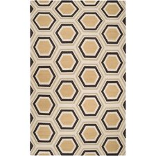Fallon Chocolate/Beige Area Rug