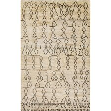 Casablanca Hand-Knotted Camel/Moss Area Rug