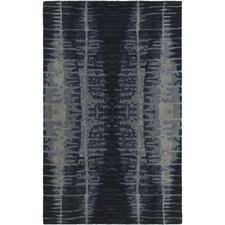 Naya Hand-Tufted Black/Medium Gray Area Rug
