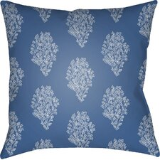 Moody Floral Throw Pillow