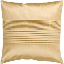 Solid Pleated Throw Pillow Cover