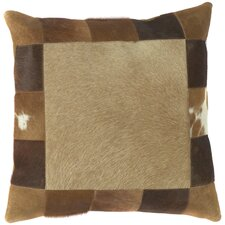 Trail 100% Leather Throw Pillow Cover