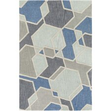 Oasis Hand-Tufted Green/Gray Area Rug