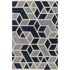 Oasis Hand-Tufted Blue/Gray Area Rug