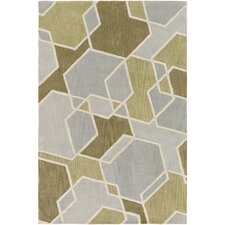 Oasis Hand-Tufted Gray/Green Area Rug
