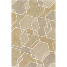 Oasis Hand-Tufted Green/Brown Area Rug