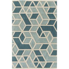 Oasis Hand-Tufted Green/Blue Area Rug