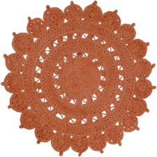 Sundaze Hand-Woven Orange Area Rug