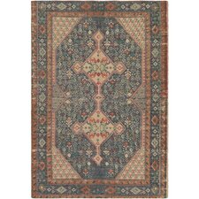 Shadi Hand-Woven Neutral/Blue Area Rug