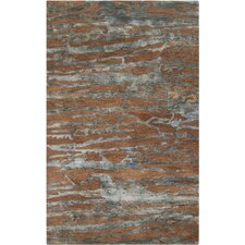 Banshee Sepia/Slate Blue Area Rug