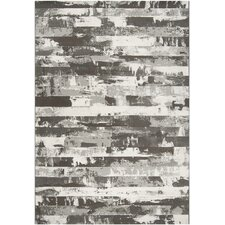 Contempo Gray Stripes Area Rug