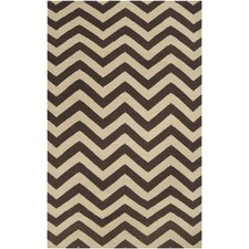 Frontier Dark Brown & Cream Area Rug