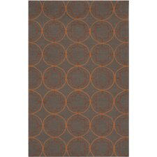Rain Wenge Circle Indoor/Outdoor Rug