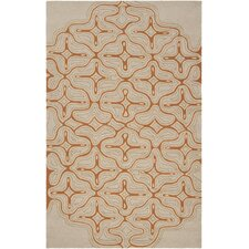 Labrinth Olive & Red Area Rug