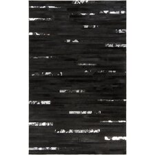 Trail Dark Black Area Rug