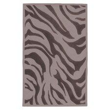 Goa Flint Gray Zebra Printed Area Rug
