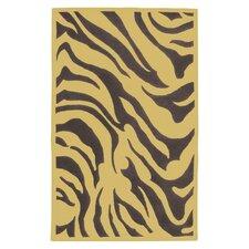 Goa Dark Plum Zebra Printed Area Rug