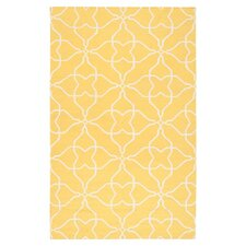 Frontier Sunshine Yellow & White Ikat Area Rug